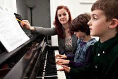 piano lesson two boys